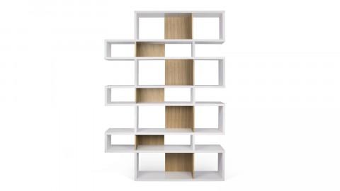 Etagère L en bois blanc et naturel - Collection London - Temahome
