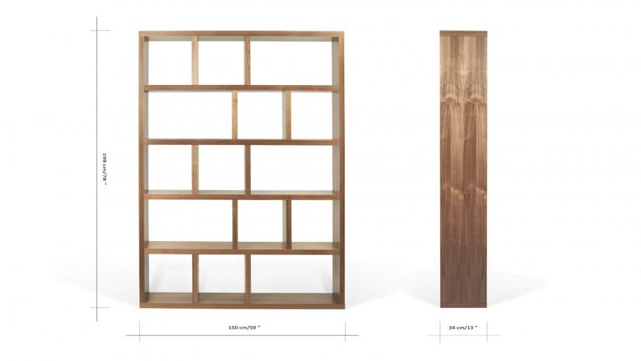 Etagère 5 niveaux 150cm en contreplaqué noisette - Collection Berlin - Temahome