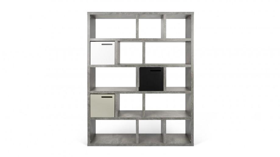 Etagère 5 niveaux 150cm effet béton - Collection Berlin - Temahome