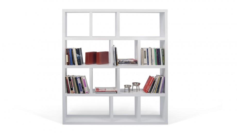 Etagère 4 niveaux 150cm blanche - Collection Berlin - Temahome