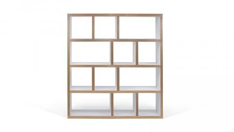 Etagère 4 niveaux 150cm en bois naturel et blanc - Collection Berlin - Temahome
