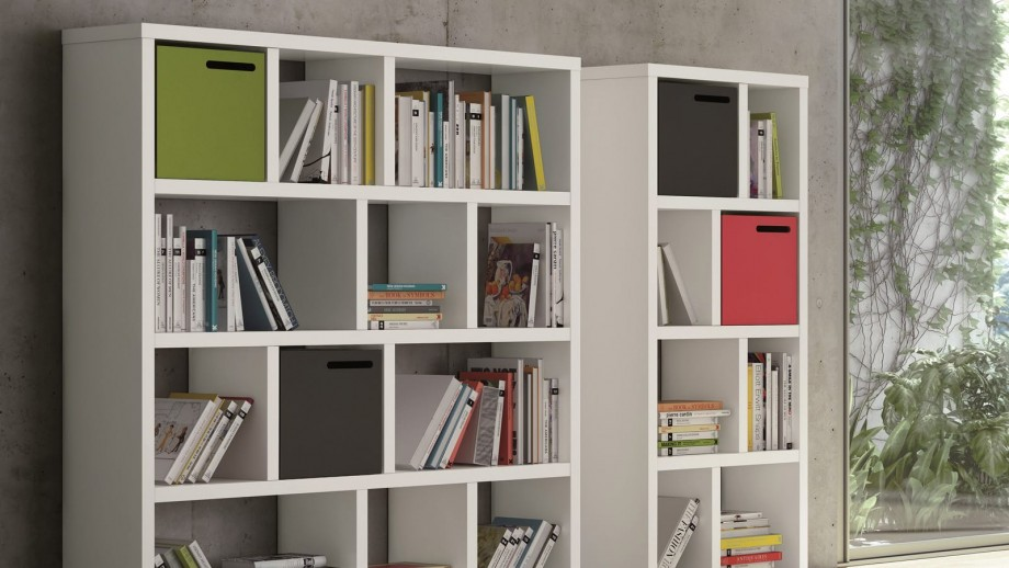 Etagère 4 niveaux 70cm blanche - Collection Berlin - Temahome