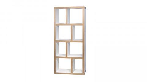 Etagère 4 niveaux 70cm en contreplaqué naturel et blanc - Collection Berlin - Temahome