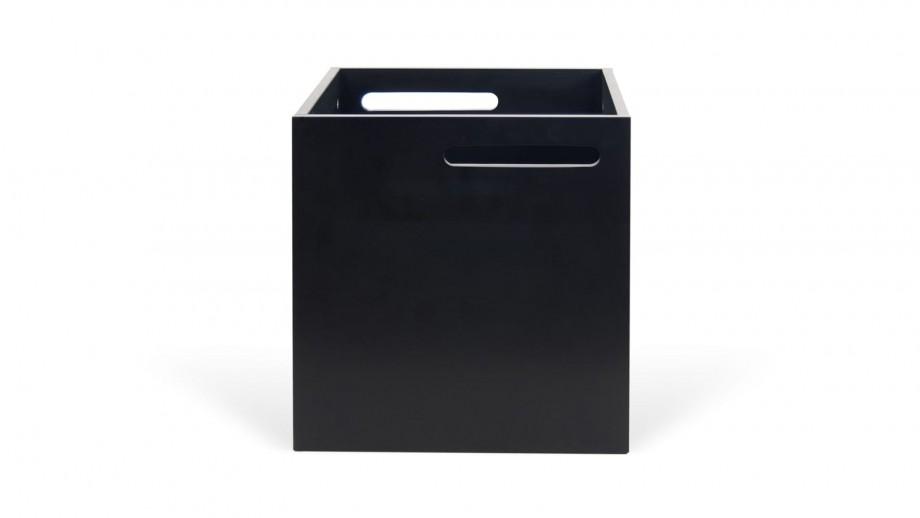 Boite de rangement noir mat pour étagère Berlin - Temahome