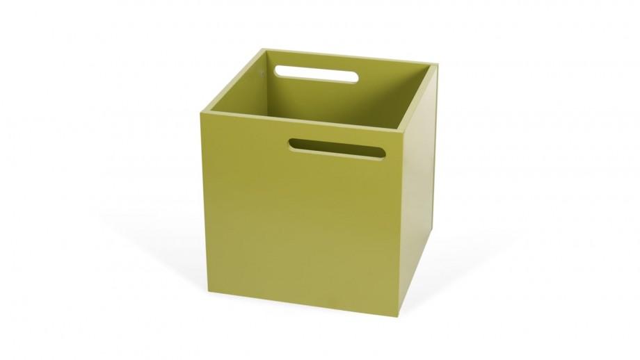 Boite de rangement vert mat pour étagère Berlin - Temahome