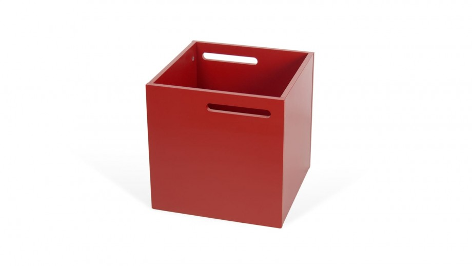 Boite de rangement rouge mat pour étagère Berlin - Temahome