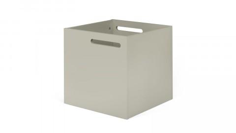 Boite de rangement gris mat pour étagère Berlin - Temahome