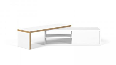 Meuble TV modulable blanc et chêne - Move - Homifab