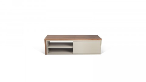 Meuble TV modulable gris et noyer - Move - Homifab