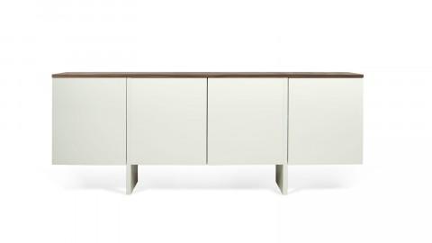 Buffet bas 4 portes en bois foncé et blanc - Collection Edge - Temahome