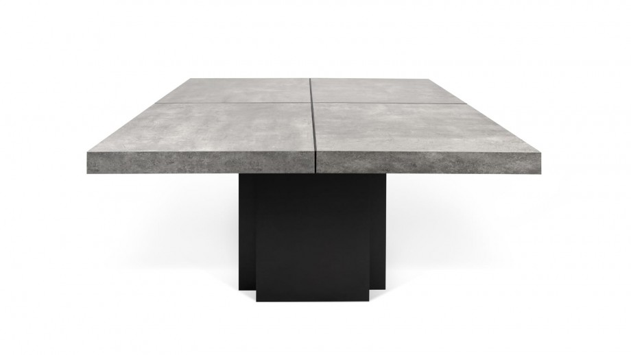 Table à manger 130cm béton piètement noir - Collection Dusk - Temahome