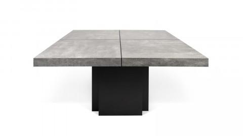 Table à manger 130cm effet béton piètement noir - Collection Dusk - Temahome