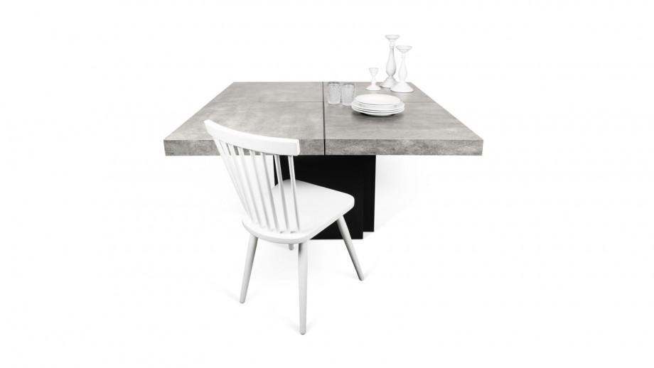 Table à manger 150cm béton piètement noir - Collection Dusk - Temahome