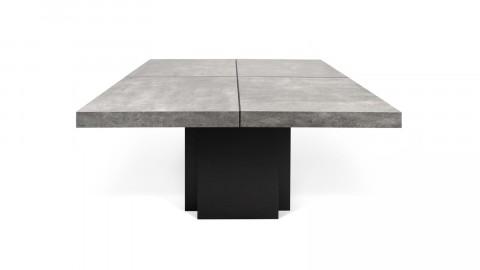Table à manger carré 150cm effet béton piètement noir - Collection Dusk - Temahome