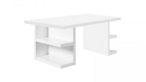Bureau 160cm en bois blanc avec rangements latéraux -Collection Multi - Temahome