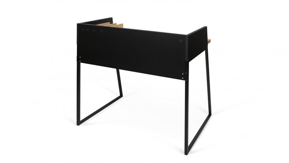 Bureau noir et contreplaqué clair - Collection Volga - Temahome