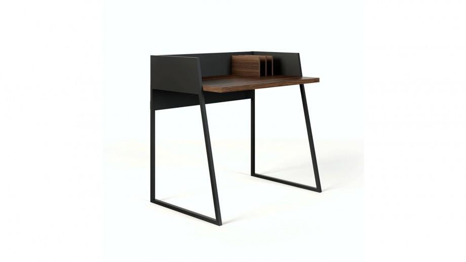 Bureau noir et contreplaqué foncé - Collection Volga - Temahome