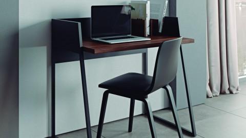 Bureau noir et bois foncé - Collection Volga - Temahome