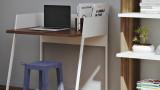 Bureau blanc et bois foncé - Collection Volga - Temahome