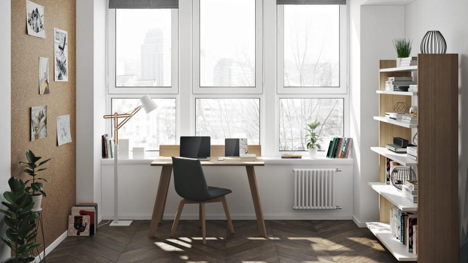 Bureau en chêne piètement noir - Collection Loft - Temahome