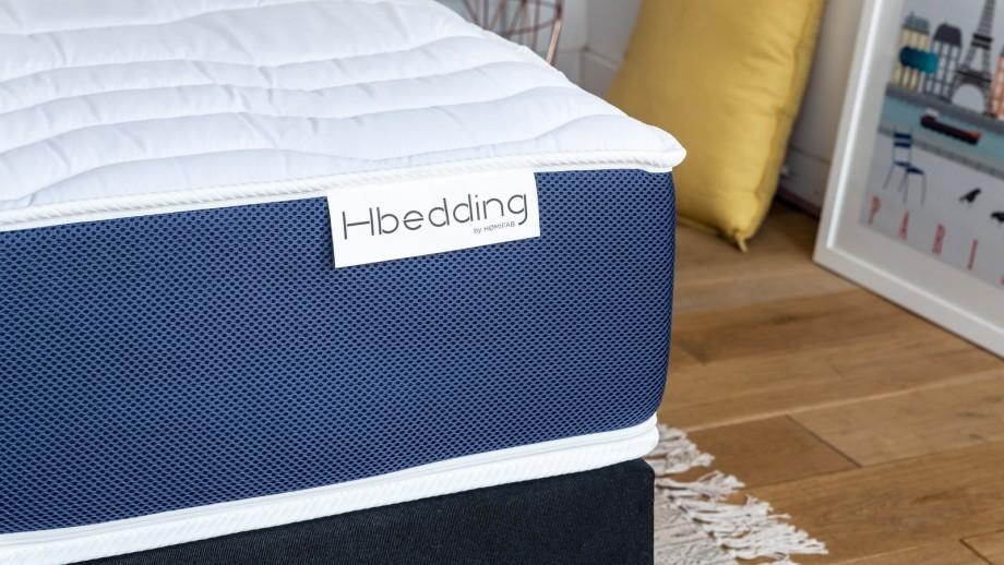 Pack matelas 140x190 Memory Fresh + 1 couette chaude 240x220cm + 2 oreillers mémoire de forme 60x60cm - Hbedding
