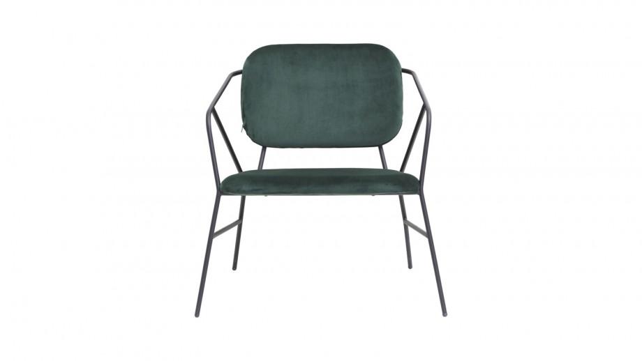 Lot de 2 chaises en tissu vert piètement métal - Collection Klever - House Doctor