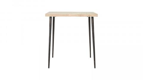 Petite table en manguier naturel piètement en métal - Collection Slated - House Doctor