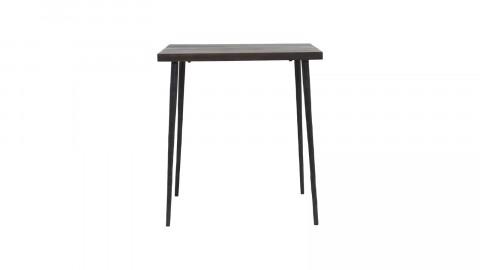 Petite table en manguier noir piètement en métal - Collection Slated - House Doctor