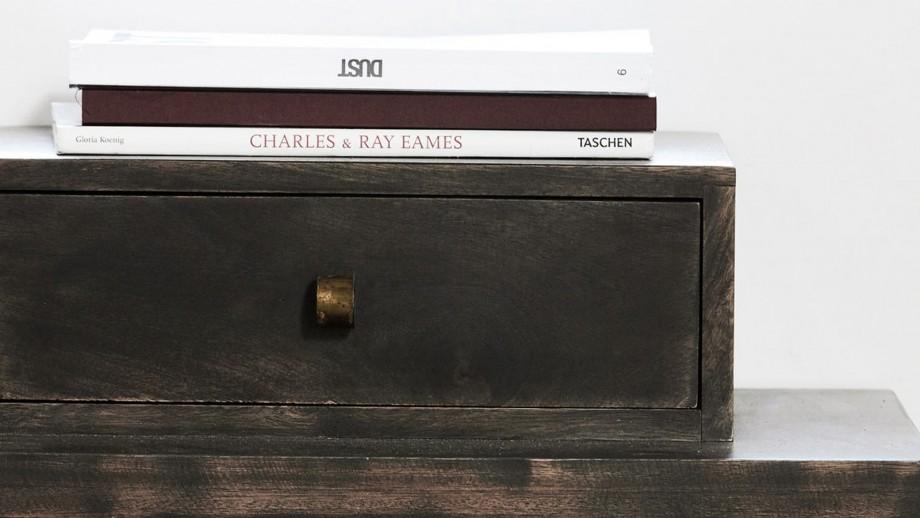 Console en manguier avec coffre supérieur piètement en métal - Collection Club - House Doctor