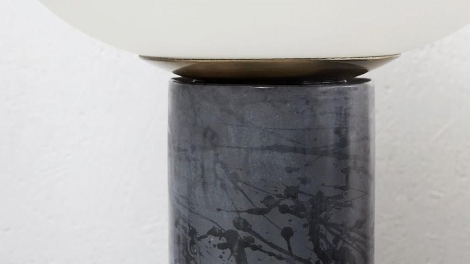 Lampe à poser en céramique et métal - Collection Opal - House Doctor