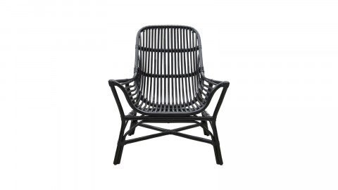 Fauteuil en rotin noir - Collection Colony - House Doctor