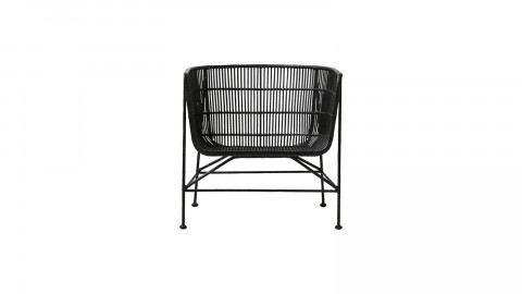 Fauteuil bas en rotin noir - Collection Cuun - House Doctor