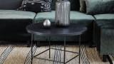 Table basse ronde en métal 70cm - Collection Balance - House Doctor