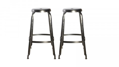 Lot de 2 tabourets de bar en métal - Collection Definie - House Doctor