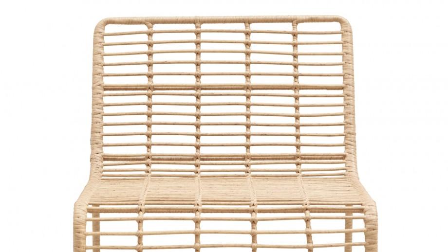 Chaise de jardin marron clair - Collection Oluf - House Doctor