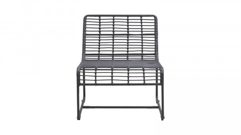 Chaise de jardin noire - Collection Oluf - House Doctor