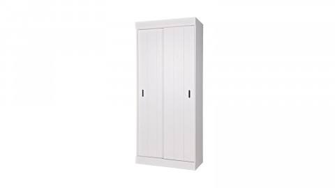 Armoire 2 portes en pin blanc - Collection Row - Woood