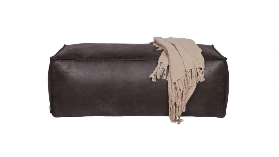 Pouf 43x120 en cuir noir - Collection Rodeo - BePureHome