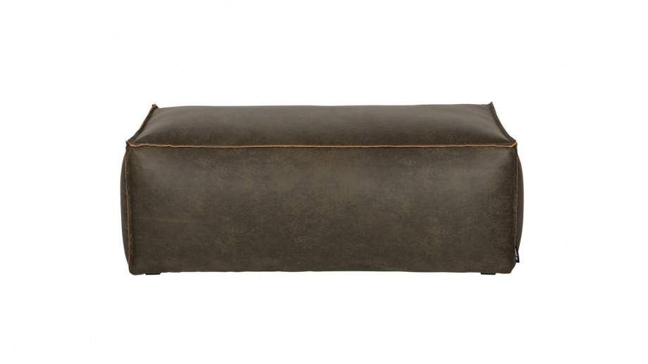 Pouf 43x120 en cuir kaki - Collection Rodeo - BePureHome