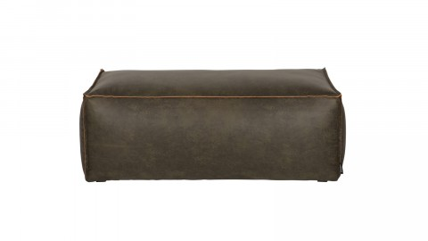Pouf 43x120 en cuir kaki - Collection Rodeo - BePureHome