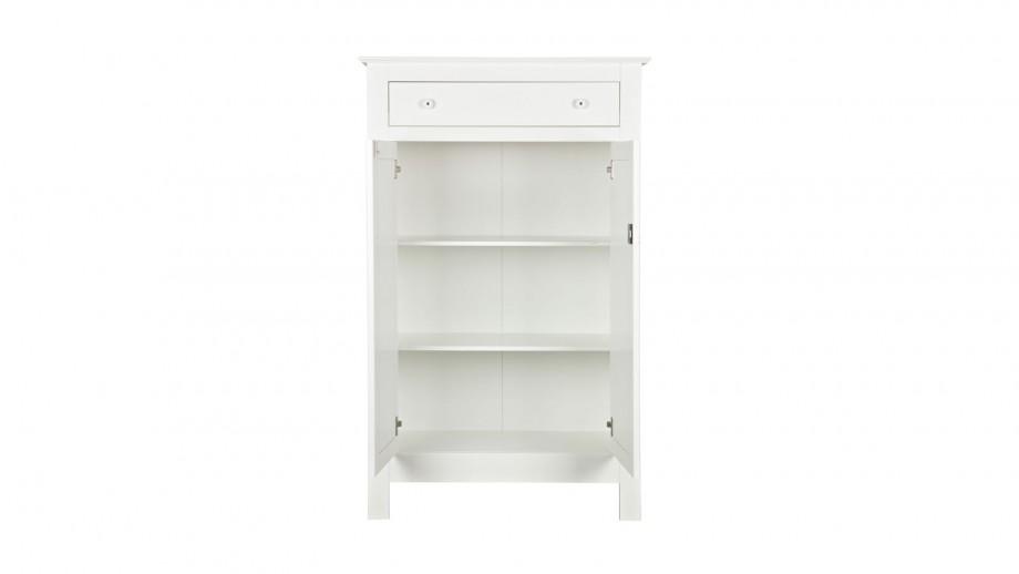 Petite armoire en pin massif blanc - Collection Eva - Woood