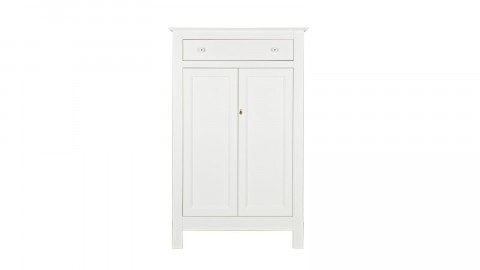 Petite armoire en pin massif blanc - Collection Eva - Woood