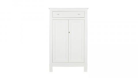 Petite armoire en pin massif blanc - Eva - Woood