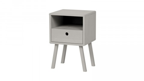 Table de chevet en pin gris - Collection Sammie - Woood