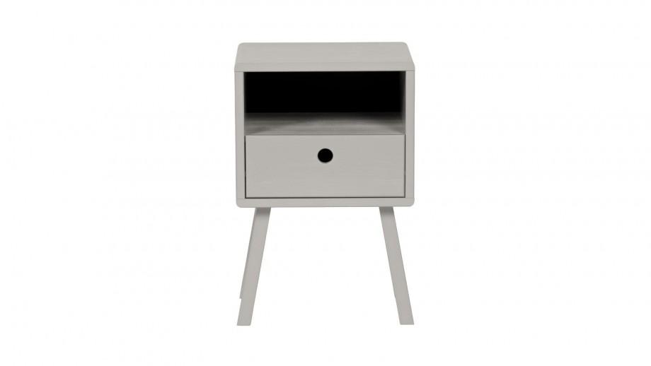 Table de chevet en pin gris - Collection Sammie - Woood