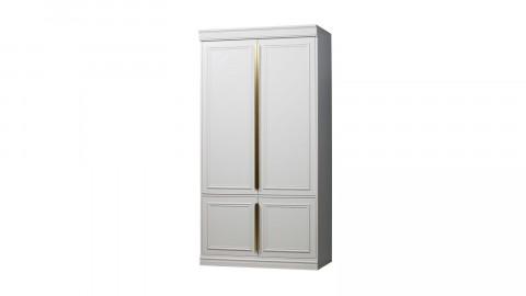 Armoire 62cm 2 portes en pin blanc - Collection Organize BePureHome