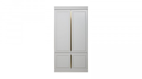 Armoire 62cm 2 portes en pin blanc - Collection Organize BePureHome