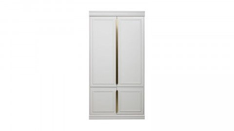 Armoire 44cm 2 portes en pin blanc - Collection Organize BePureHome