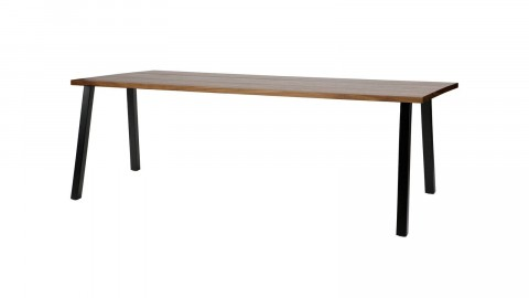 Table à manger 200cm en bois piètement en métal noir - Collection James - Woood