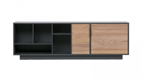 Commode en bois noir et noisette - Collection James - Woood